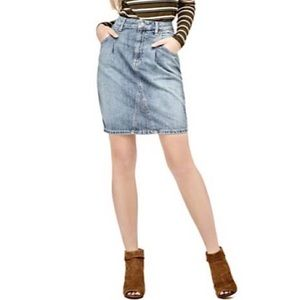 Guess 26 High Waist Jean Skirt Denim